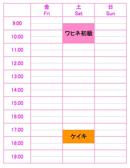 Yokosuka Lesson Schedule